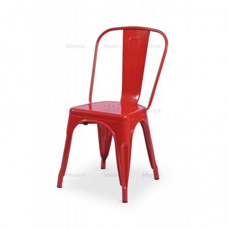 Krzesło kawiarniane PARIS inspirowane TOLIX czerwony połysk