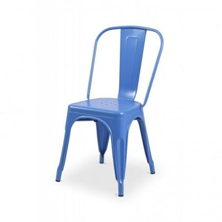 Krzesło kawiarniane PARIS inspirowane TOLIX niebieski mat