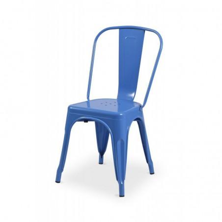 Krzesło kawiarniane PARIS inspirowane TOLIX niebieski połysk