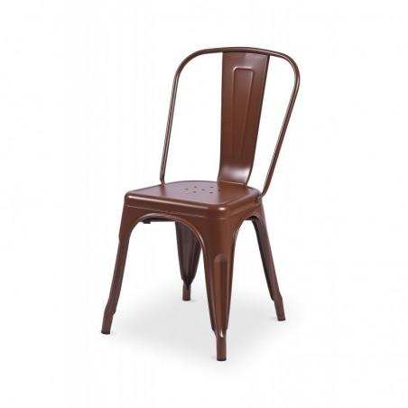 Krzesło kawiarniane PARIS inspirowane TOLIX brązowy mat