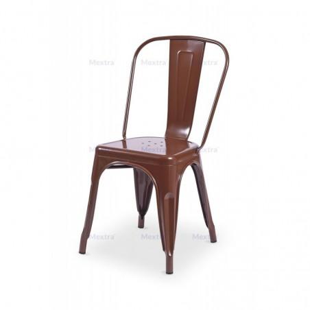 Krzesło kawiarniane PARIS inspirowane TOLIX brązowy połysk