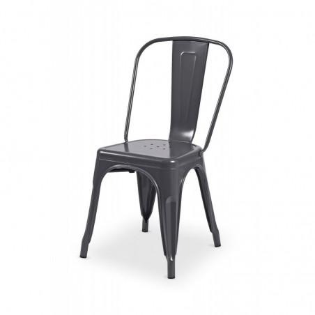 Krzesło kawiarniane PARIS inspirowane TOLIX grafit połysk