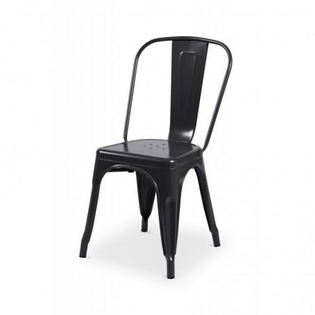 Krzesło loftowe Paris inspirowane TOLIX czarne połysk
