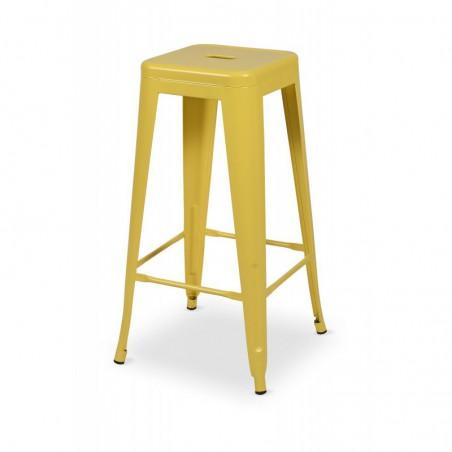Krzesło kawiarniane PARIS inspirowane TOLIX hoker żółty mat