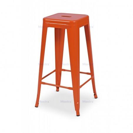 Krzesło kawiarniane PARIS inspirowane TOLIX hoker pomarańczowy mat