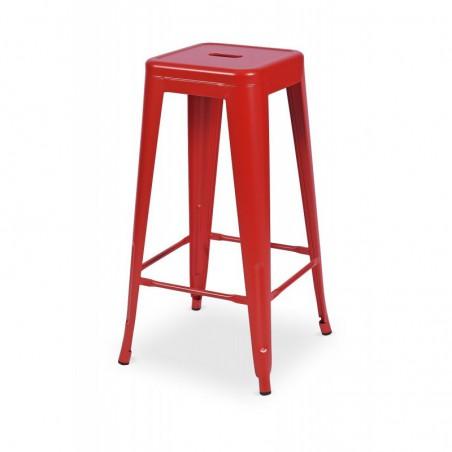 Krzesło kawiarniane PARIS inspirowane TOLIX hoker czerwony mat