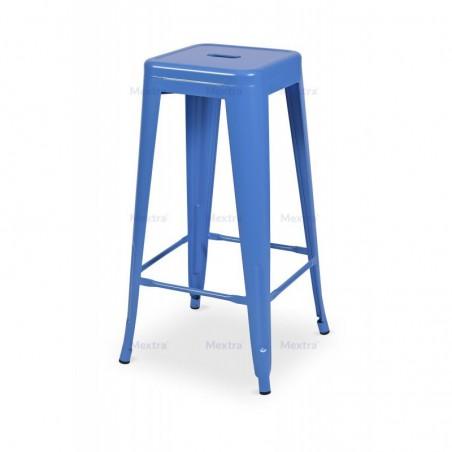 Krzesło kawiarniane PARIS inspirowane TOLIX hoker niebieski mat
