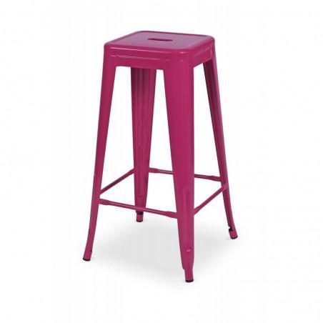 Krzesło kawiarniane PARIS inspirowane TOLIX hoker różowy mat