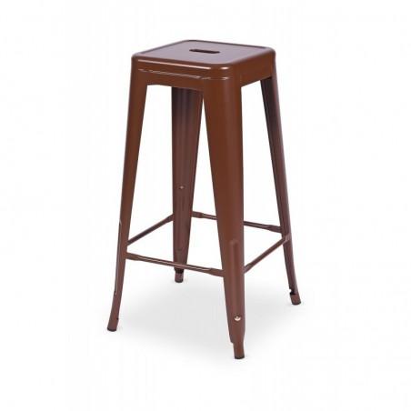 Krzesło kawiarniane PARIS inspirowane TOLIX hoker brązowy mat