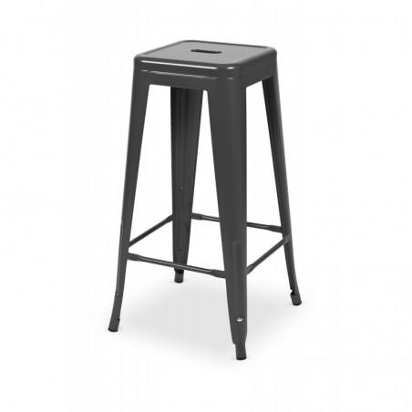 Krzesło kawiarniane PARIS inspirowane TOLIX hoker grafit mat