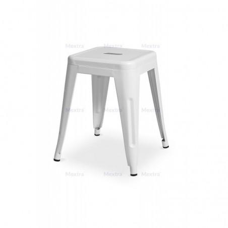 Krzesło kawiarniane PARIS inspirowane TOLIX taboret biały mat