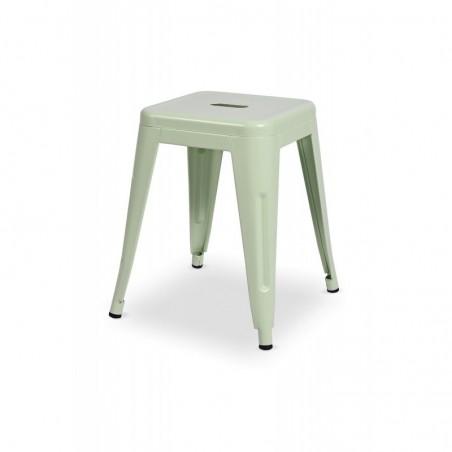 Krzesło kawiarniane PARIS inspirowane TOLIX taboret seledynowy mat