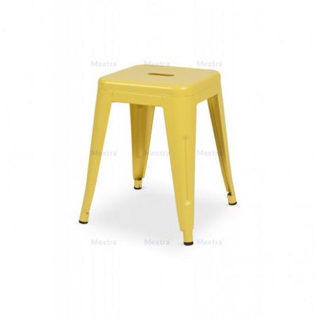 Krzesło kawiarniane PARIS inspirowane TOLIX taboret żołty mat