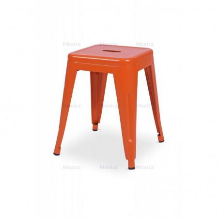 Krzesło kawiarniane PARIS inspirowane TOLIX taboret pomarańczowy mat