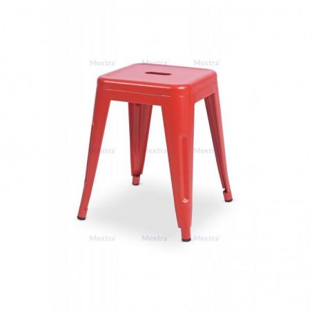 Krzesło kawiarniane PARIS inspirowane TOLIX taboret czerwony mat