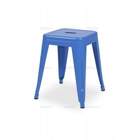 Krzesło kawiarniane PARIS inspirowane TOLIX taboret niebieski mat