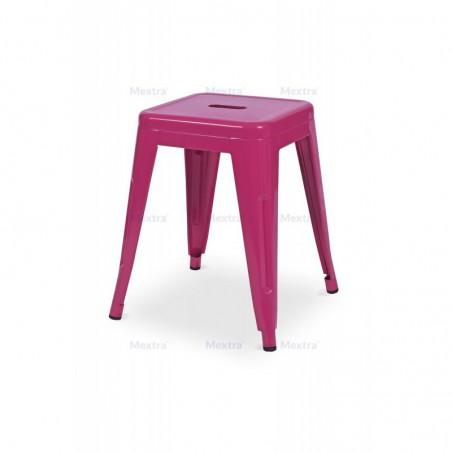 Krzesło kawiarniane PARIS inspirowane TOLIX taboret różowy mat