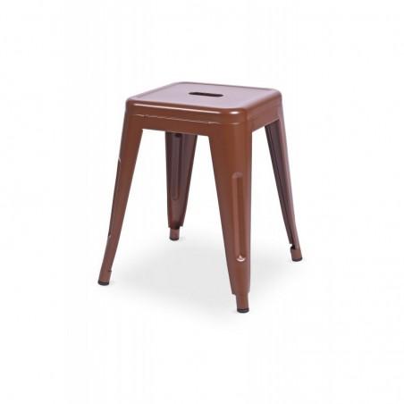 Krzesło kawiarniane PARIS inspirowane TOLIX taboret brązowy mat