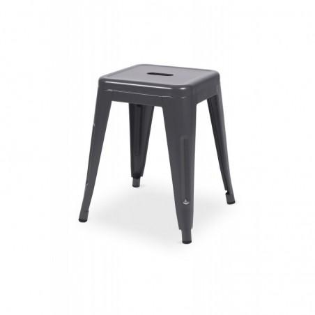 Krzesło kawiarniane PARIS inspirowane TOLIX taboret grafit mat