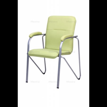 Krzesło konferencyjne SAMBA ALU NA1234/ PODŁ.SOFT PISTACJOWY