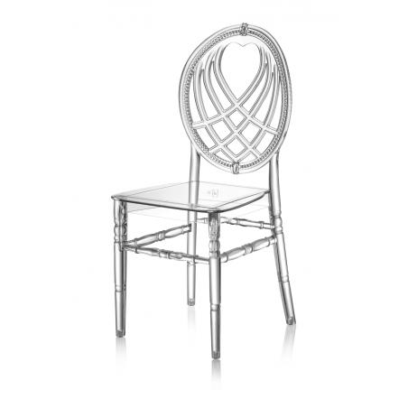 Krzesło ślubne CHIAVARI KING TRANSPARENTNE