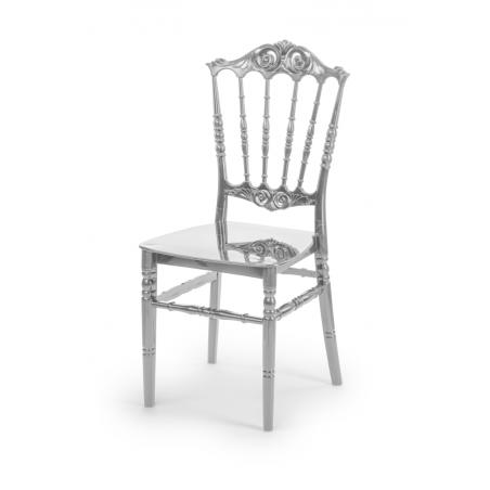 Krzesło ślubne CHIAVARI PRINCESS SREBRNE