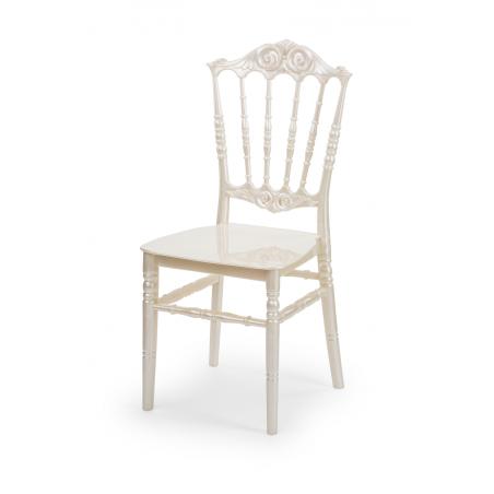 Krzesło ślubne CHIAVARI PRINCESS PERŁOWE