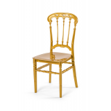 Krzesło ślubne CHIAVARI QUEEN ZŁOTE