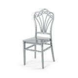 Krzesło ślubne CHIAVARI LORD SREBRNE