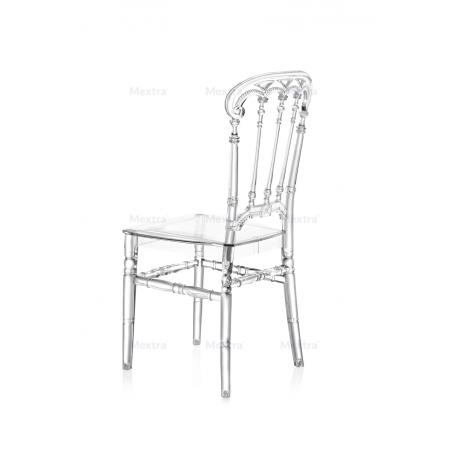 Krzesło ślubne CHIAVARI QUEEN TRANSPARENTNE