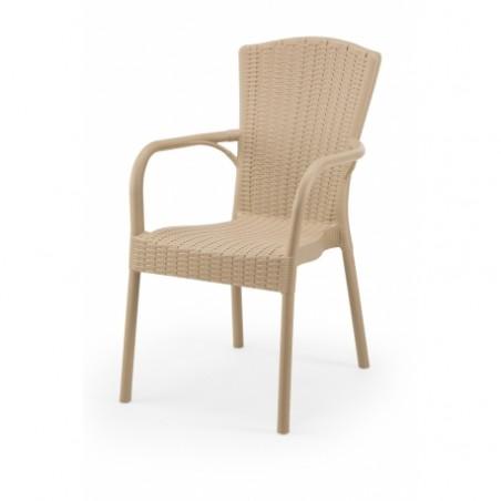 Krzesło do ogródków piwnych ANDREA caffe latte