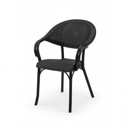 Krzesło do ogródków piwnych MARCO antracyt negra