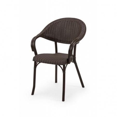 Krzesło do ogródków piwnych MARCO brązowy