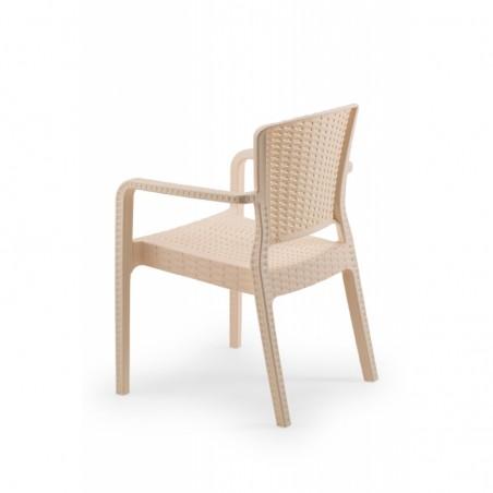 Krzesło do ogródków piwnych VITO kremowy