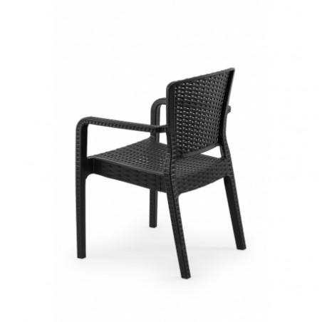 Krzesło do ogródków piwnych VITO czarny