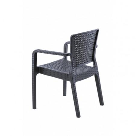 Krzesło do ogródków piwnych VITO antracyt negra