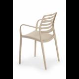 Krzesło do ogródków piwnych LUCA beżowy