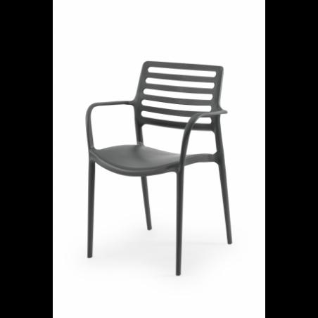 Krzesło do ogródków piwnych LUCA grafit