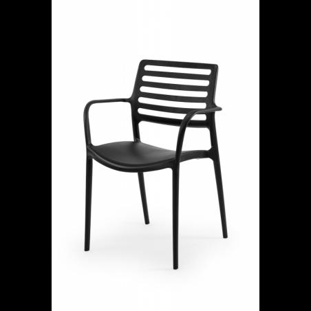 Krzesło do ogródków piwnych LUCA czarny