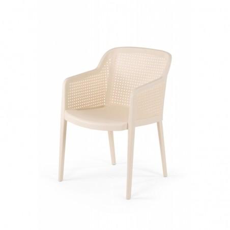 Krzesło do ogródków piwnych CARLO kremowy