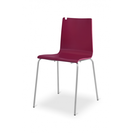 Krzesło sklejka LUNGO ALU wiśnia