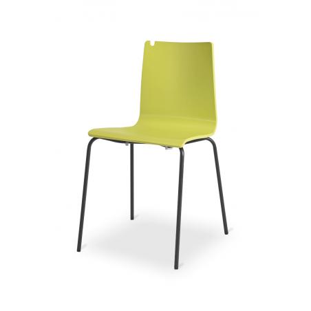 Krzesło sklejka LUNGO BL limonka