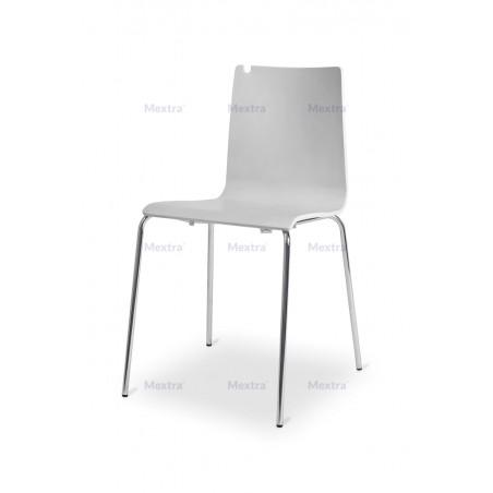 Krzesło sklejka LUNGO CR dąb bielony