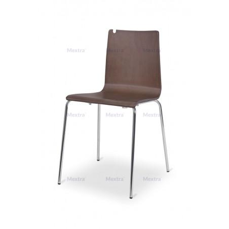 Krzesło sklejka LUNGO CR orzech