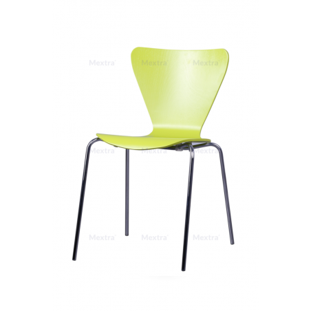 Krzesło sklejka MOCHA CR limonka