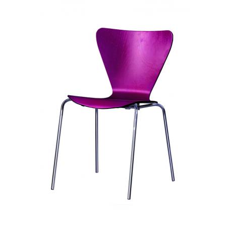 Krzesło sklejka MOCHA CR bordo