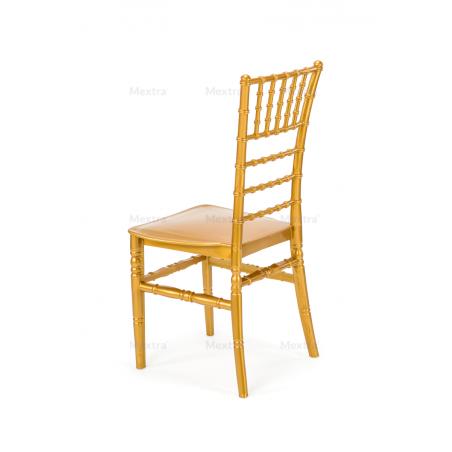 Krzesło ślubne CHIAVARI TIFFANY ZŁOTE CHAMPAGNE