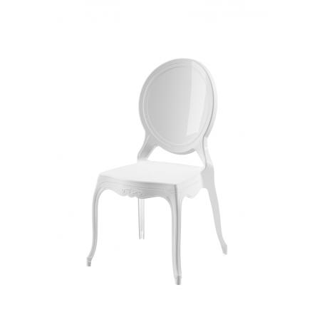 Krzesło dla pary młodej MEDALION białe