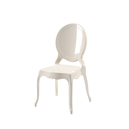Krzesło dla pary młodej MEDALION perłowe