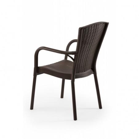 Krzesło ANDREA brązowy - ogródki piwne